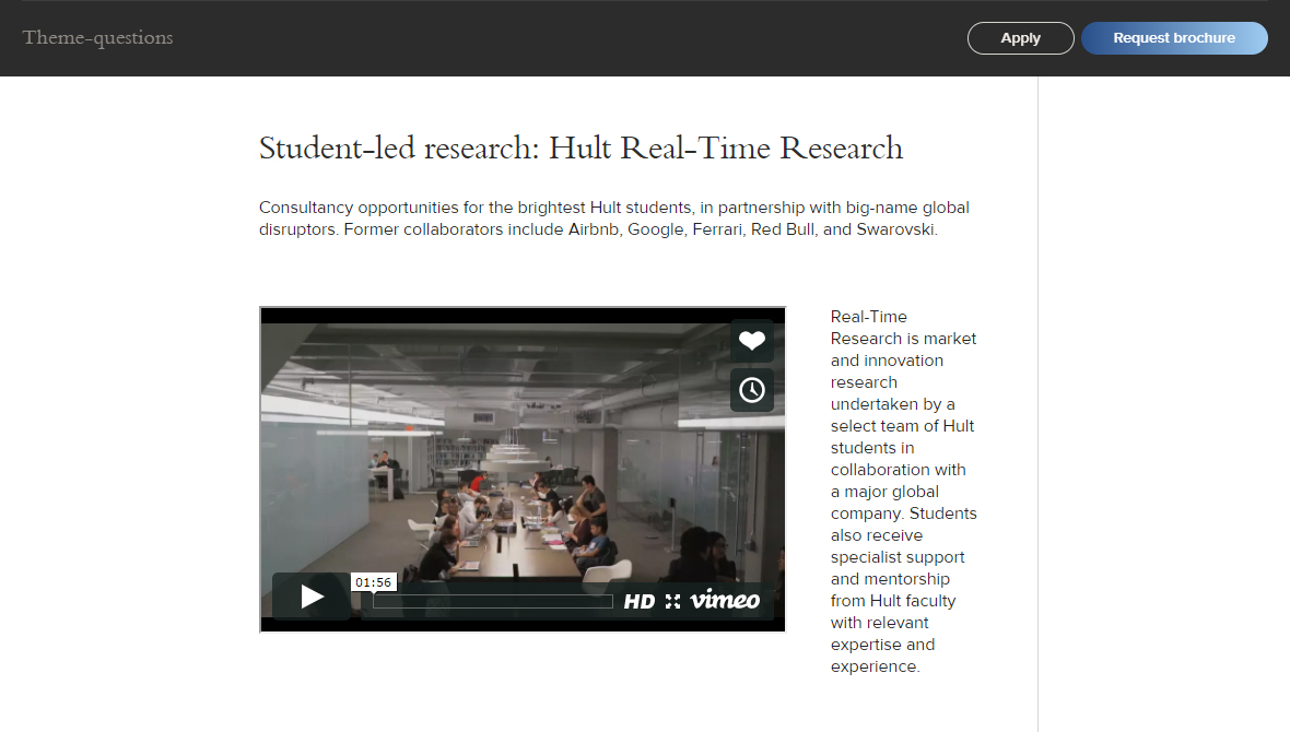 Hult article and video